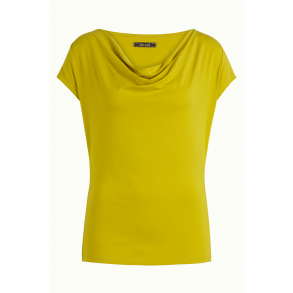 efb9886d King Louie - Waterfall Top Viscose Lycra - korte ærmer - Cress Yellow