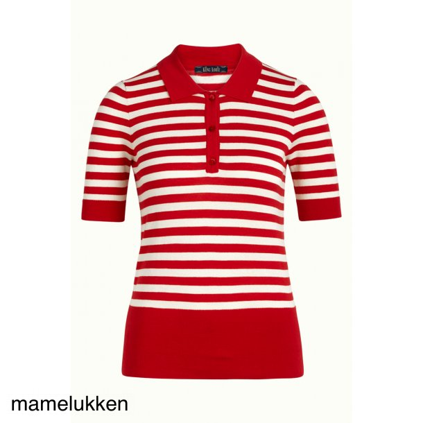 King Louie - Polo Top Classic Stripe - Chilli red