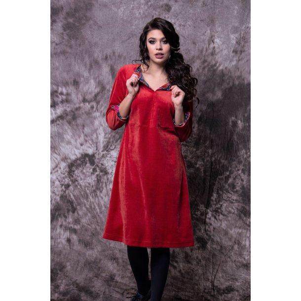 Charles Design - Kjole Diana - Rød velour