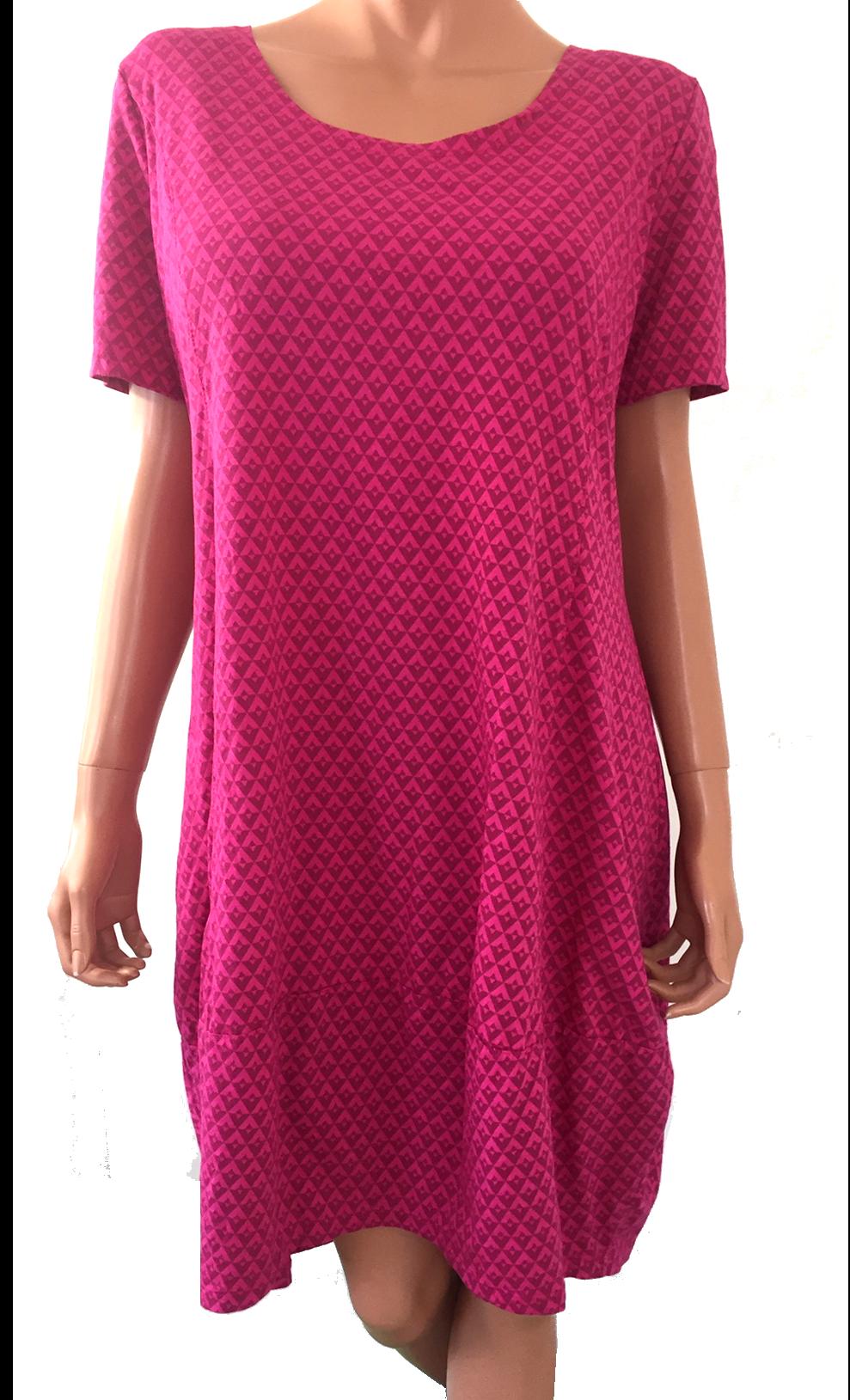 3e40f2fe Ballon kjole små trekanter - kort ærme - Pink - Ballon Kjoler - Mamelukken