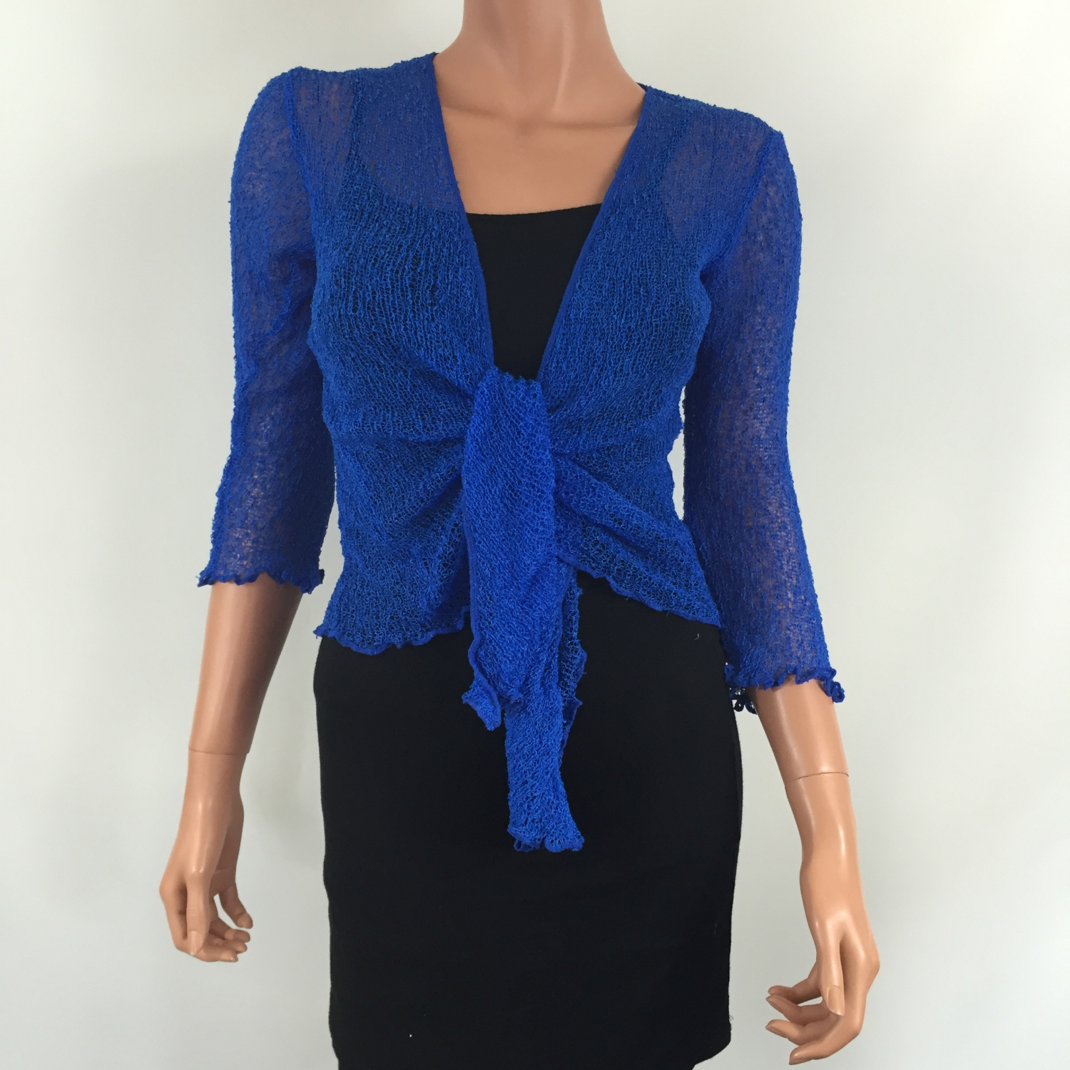 Rated 1 out of 5 by Cold_in_WI from Shrug cardigan Kim Gravel I was expecting a shrug with some shape and substance. This came thinner than a tshirt and very see through. Sorry the blue and coral go back. Date published: /5(13).