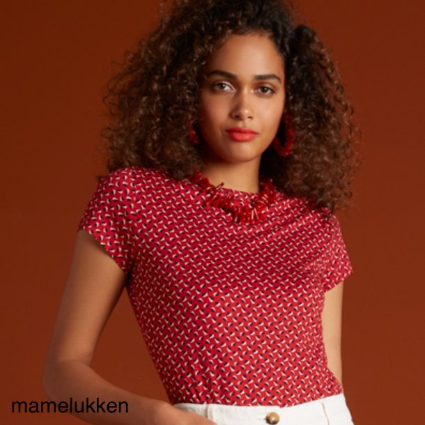 King Louie - Lily Blouse Rancho - Chili Red