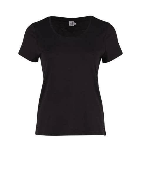 dfb36d632b9 Saint Tropez T-Shirt - Rund Hals - Black - SAINT TROPEZ - Mamelukken