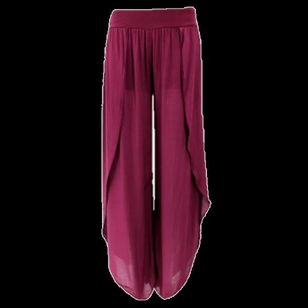 Burgundy Split Trousers