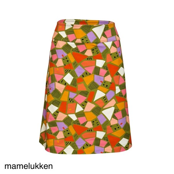 Charles Design - Amanda Nederdel - Mosaik Grøn
