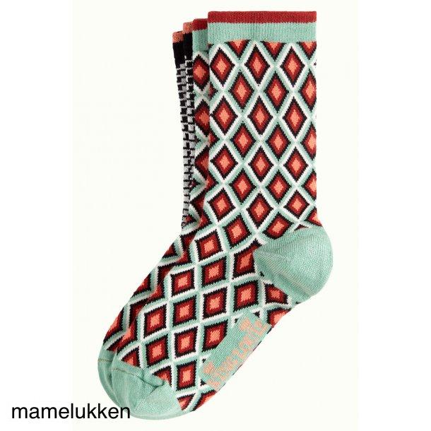 King Louie - Socks 2-Pack Chrystal - Neptune Green
