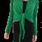 Binde bluse / Bolero - Grøn