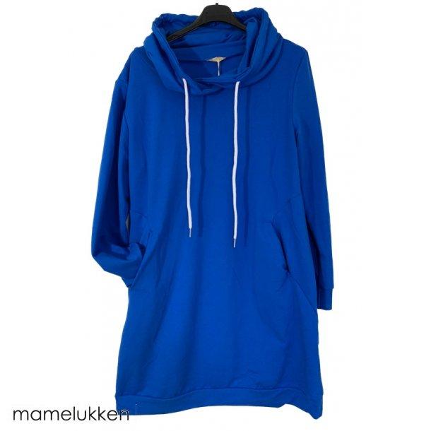 Sweatshirtkjole - Royal Blue