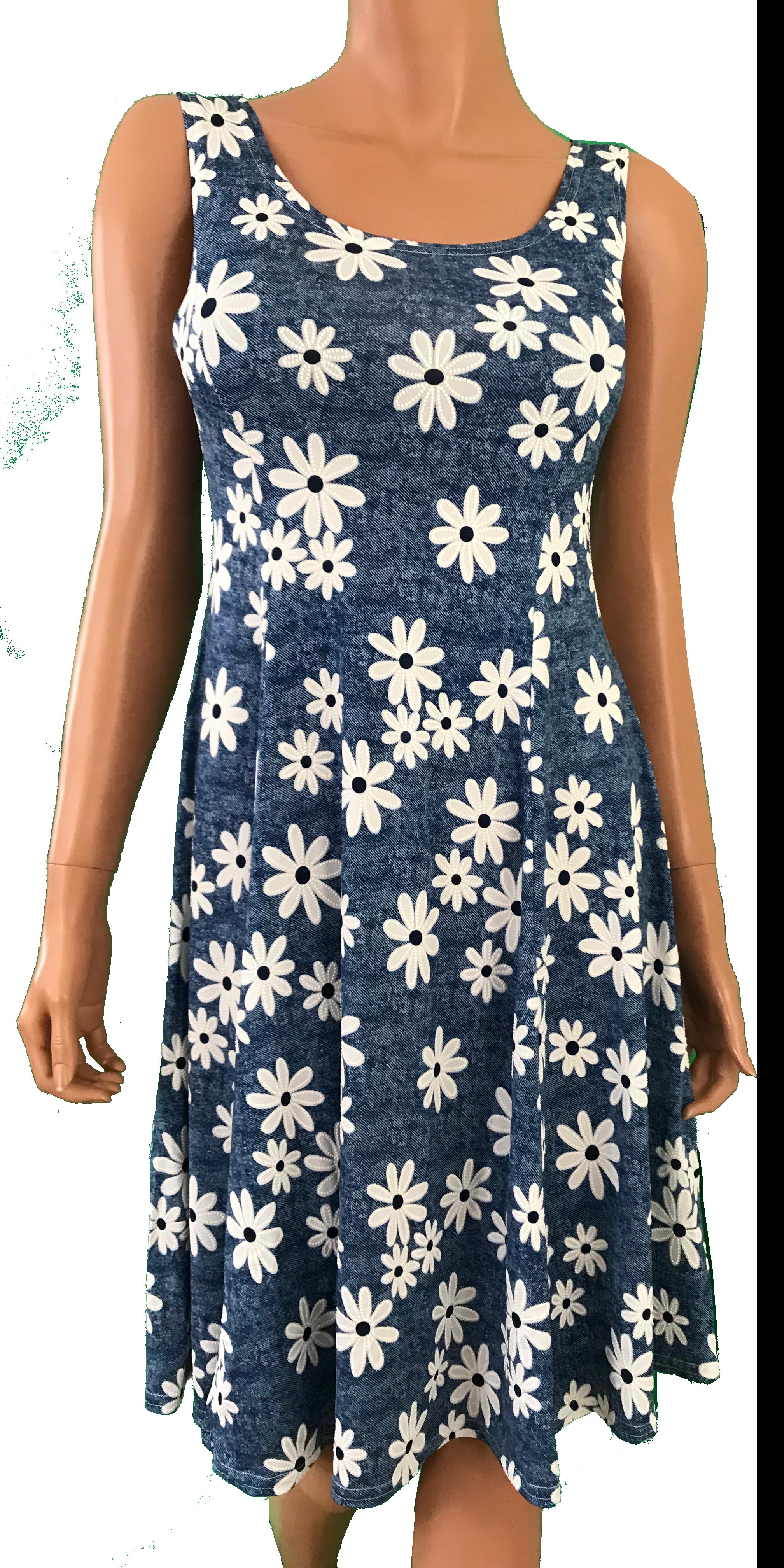 ee8c29f4 Prinsessesnit u. ærmer - Blå blomst - ALLE VORES KJOLER - Mamelukken