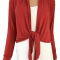 Binde bluse / Bolero - Rød