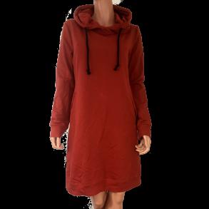 a8d12c1e3eb Sweatshirt kjole m. hætte/krave Orange