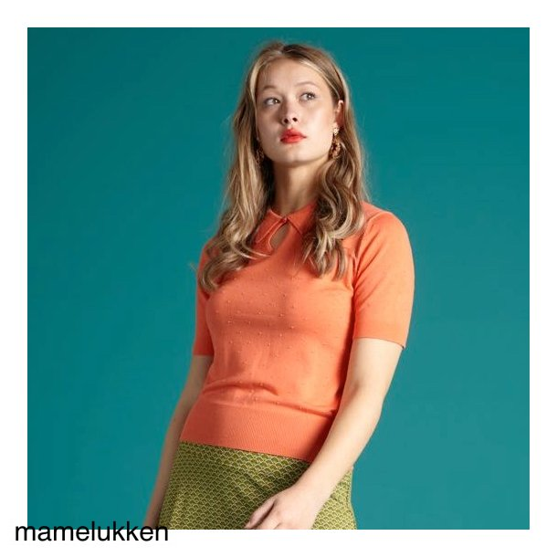 King Louie - Collar Knit Top Droplet - Peach Pink